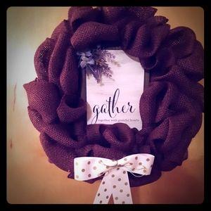 Purple Burlap Wreath